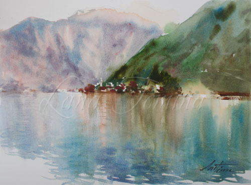Montenegro landscapes/Пейзажи Черногории watercolor landscapes gallery